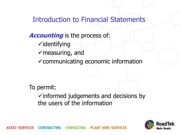 introduction to financial statements n.