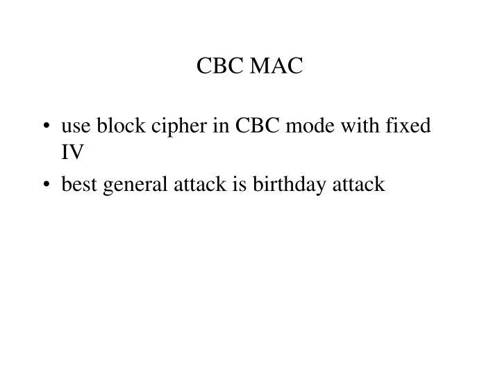 CBC MAC