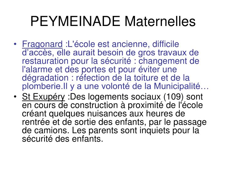 PEYMEINADE Maternelles