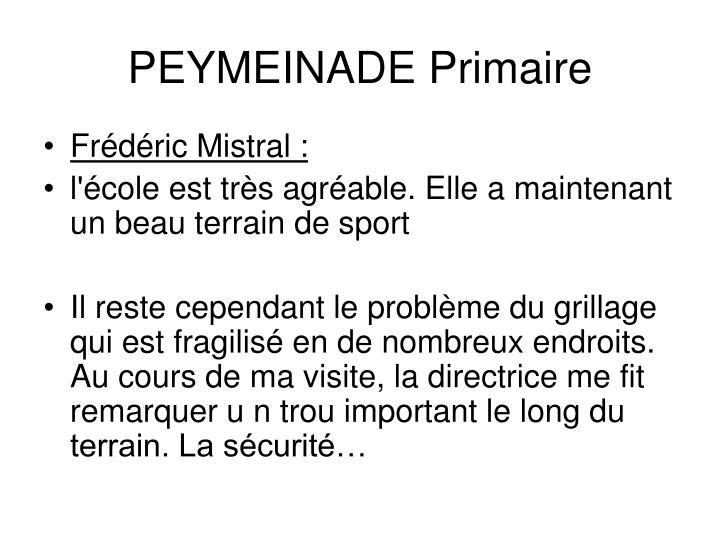 PEYMEINADE Primaire