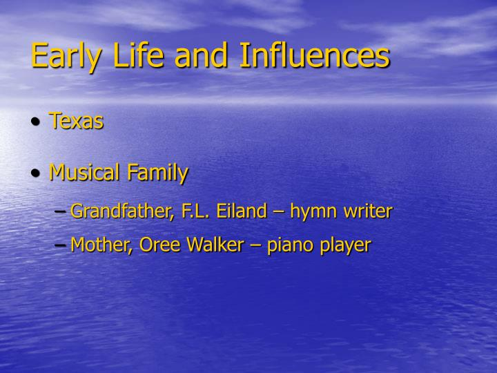 Early life and influences