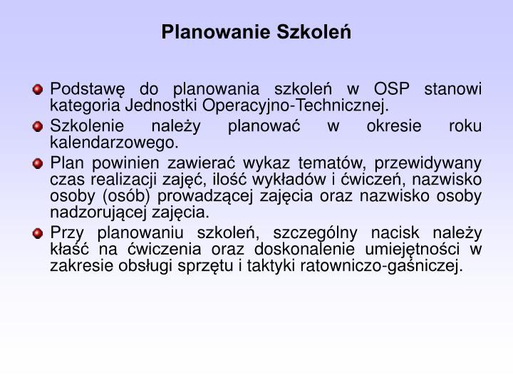 Planowanie szkole
