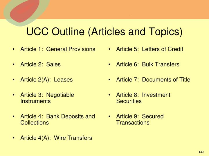ucc article 3 outline