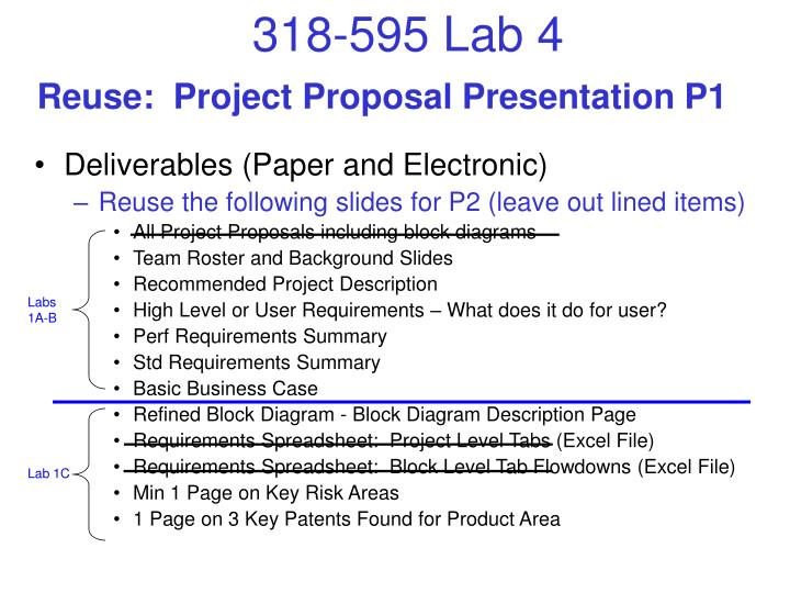 Reuse project proposal presentation p1