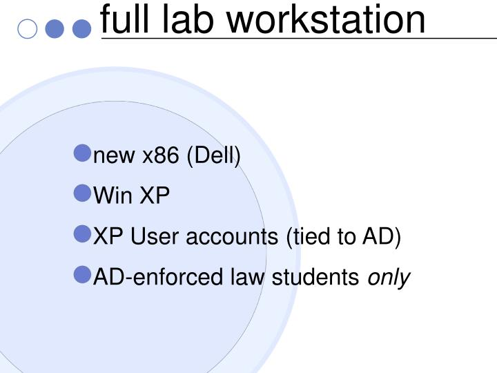 full lab workstation
