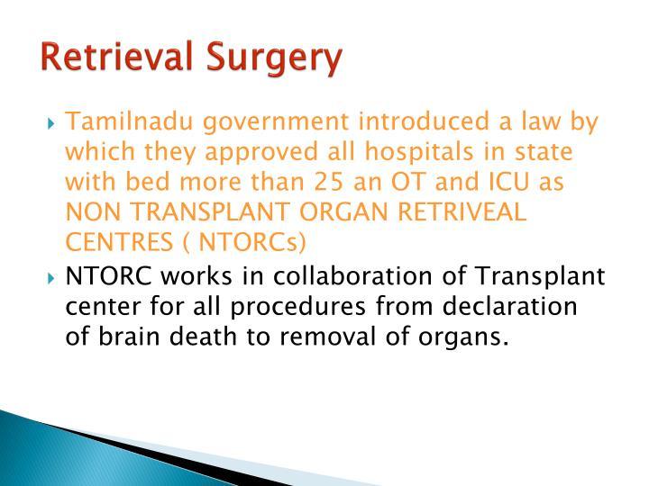 Retrieval Surgery