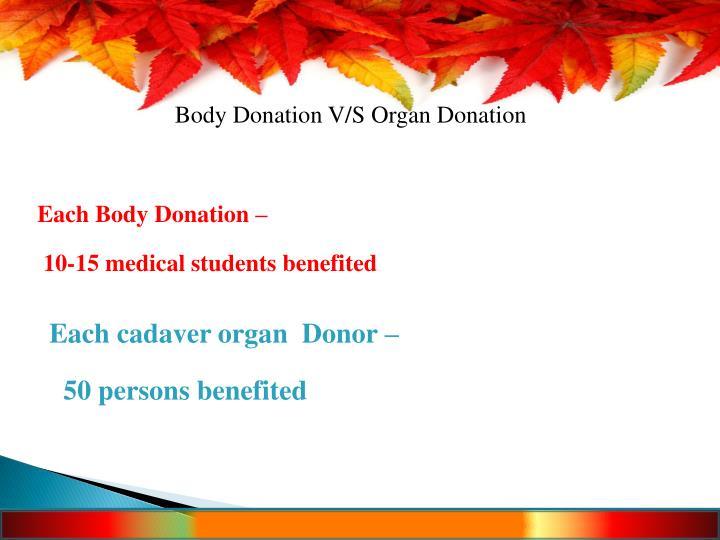 Body Donation V/S Organ Donation