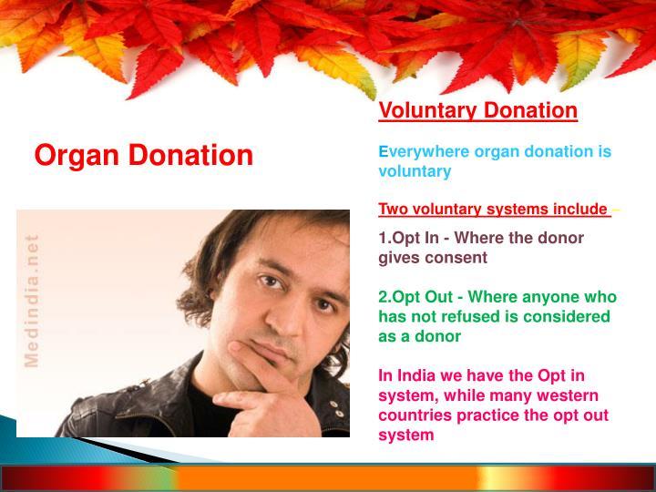 Voluntary Donation
