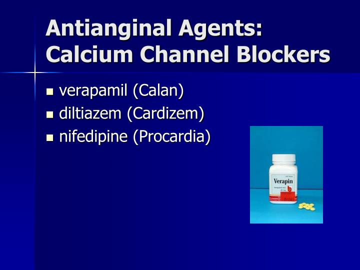 Antianginal Agents: