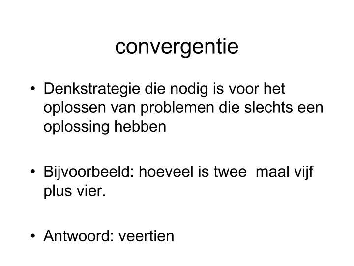 convergentie