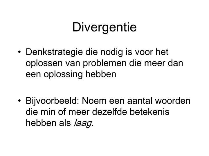 Divergentie
