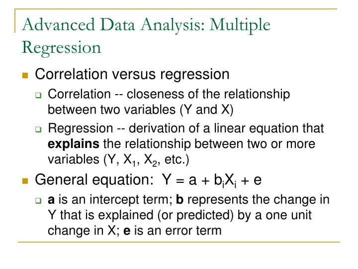 Advanced data analysis multiple regression2