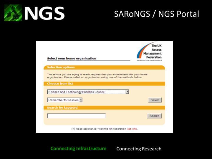 SARoNGS / NGS Portal