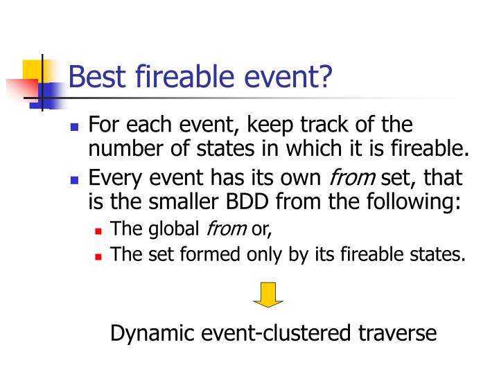 Best fireable event?