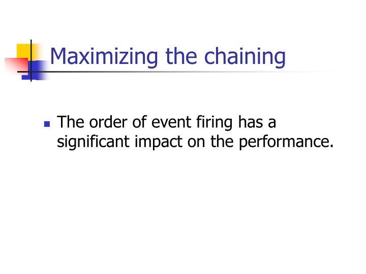Maximizing the chaining