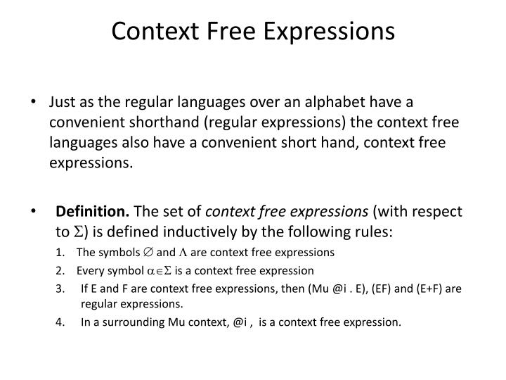 Ppt Context Free Expressions Powerpoint Presentation Id4626062