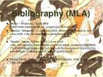 bibliography mla