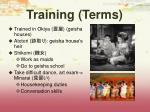 training terms