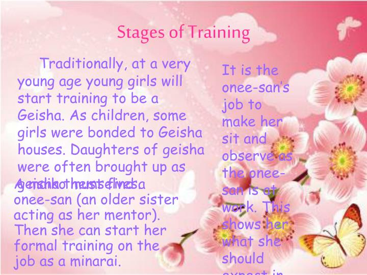 Stages of training