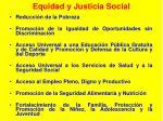 equidad y justicia social