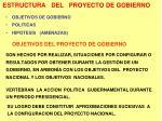 estructura del proyecto de gobierno