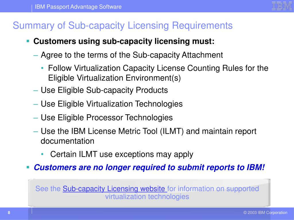 PPT - Software Licensing in a Virtualized Environment