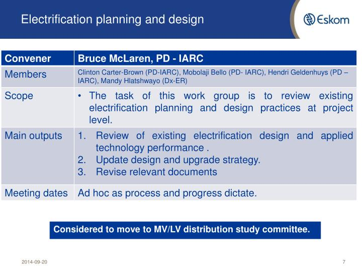 Electrification planning and design