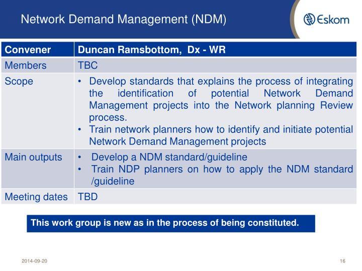 Network Demand Management (NDM)
