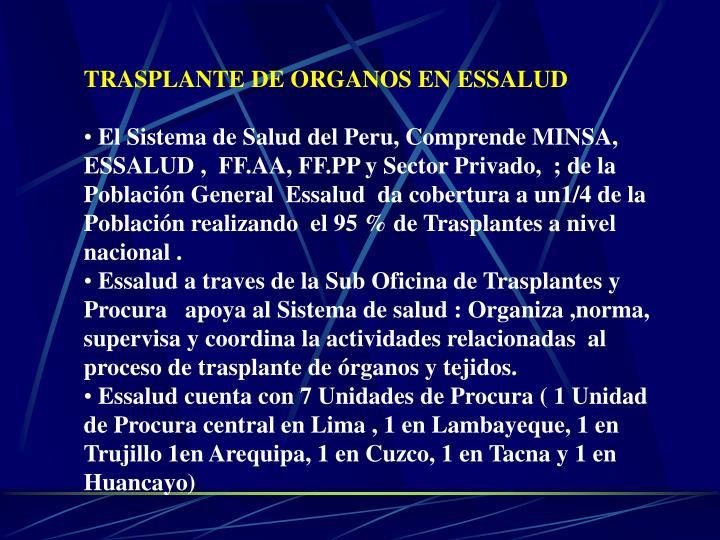 TRASPLANTE DE ORGANOS EN ESSALUD