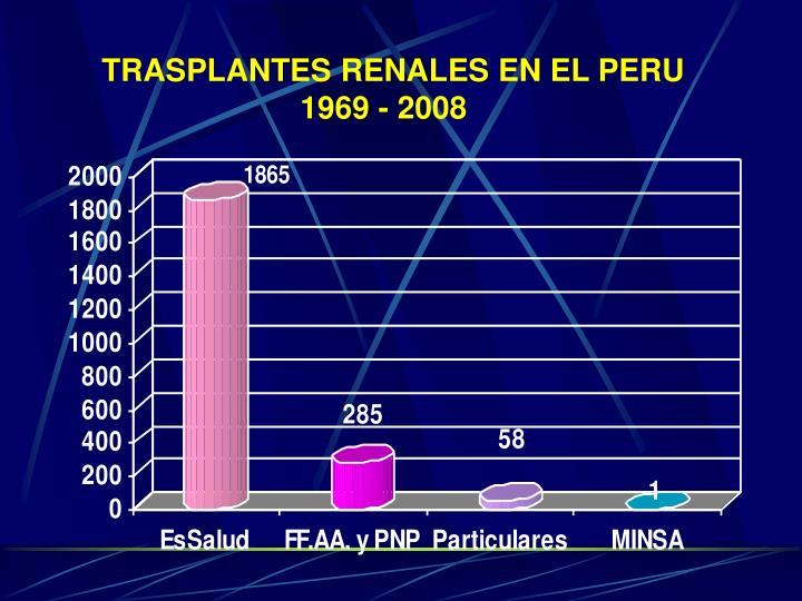 TRASPLANTES RENALES EN EL PERU