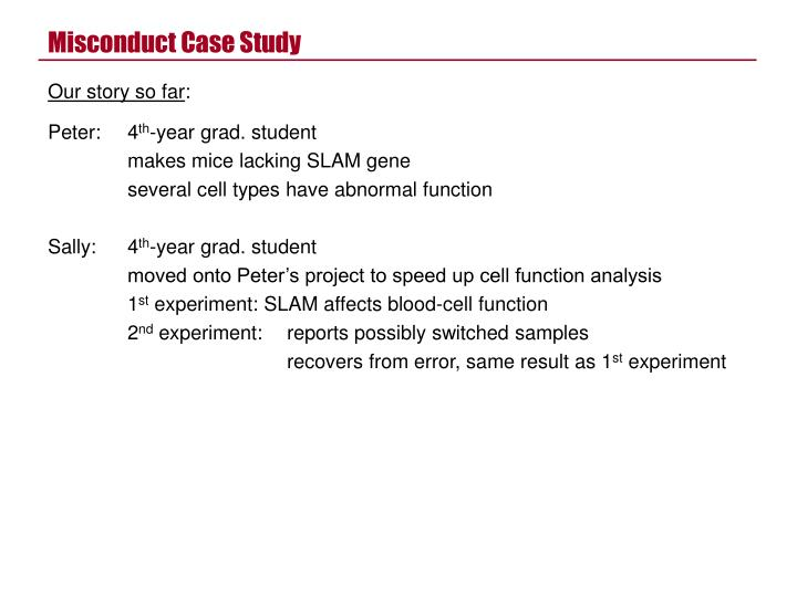 misconduct case study n.