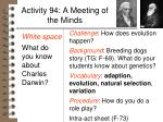 activity 94 a meeting of the minds