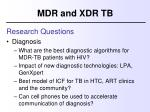 mdr and xdr tb7