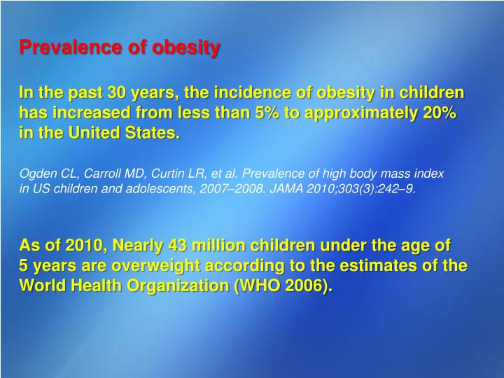 epidemiology paper on childhood obesity Staff working paper childhood obesity: an economic perspective 13 childhood overweight and obesity prevalence in australia 4.