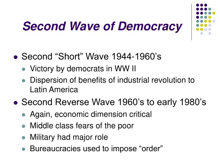 Second wave of democracy