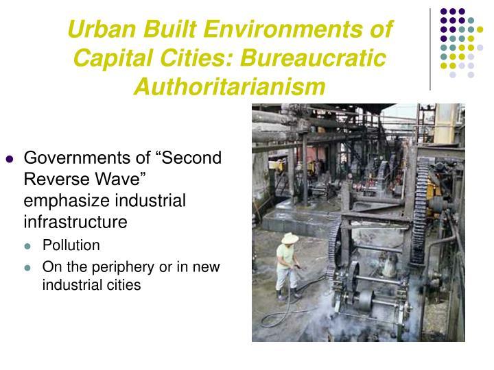 Urban Built Environments of Capital Cities: Bureaucratic Authoritarianism