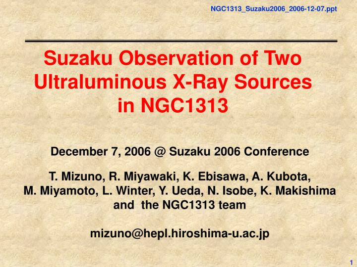 Suzaku Observation of Two Ultraluminous X-Ray Sources in NGC1313