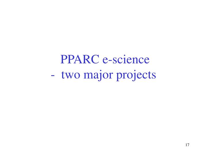PPARC e-science