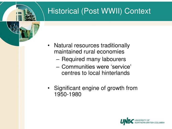 Historical (Post WWII) Context
