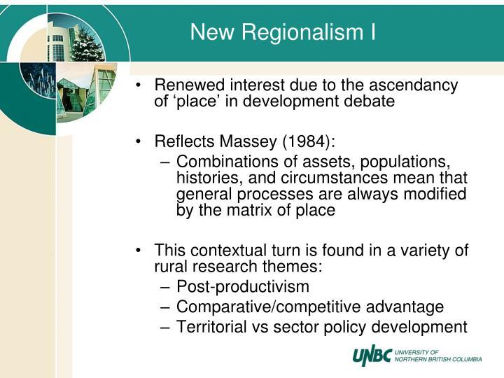 New Regionalism I