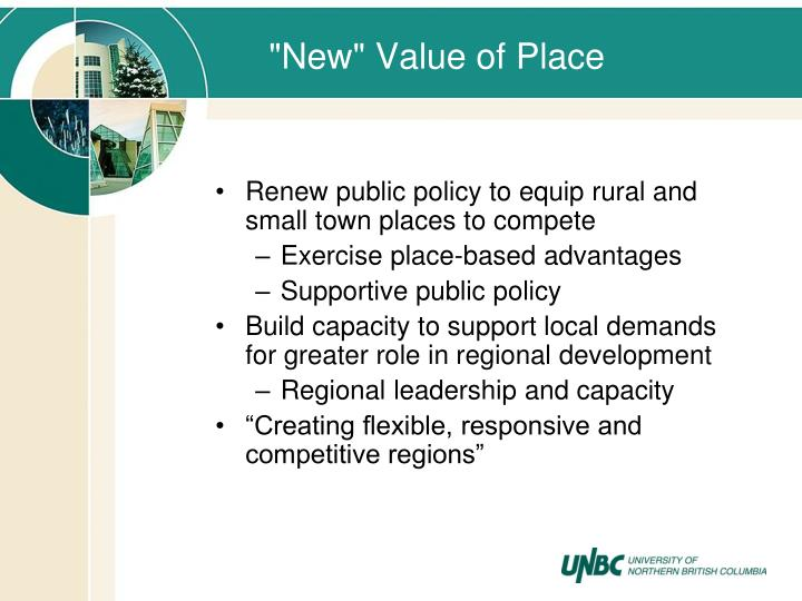 """""""New"""" Value of Place"""