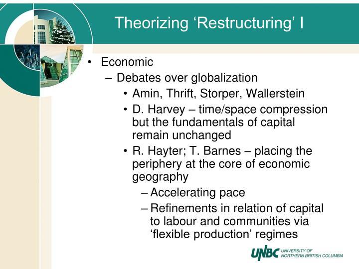 Theorizing 'Restructuring' I