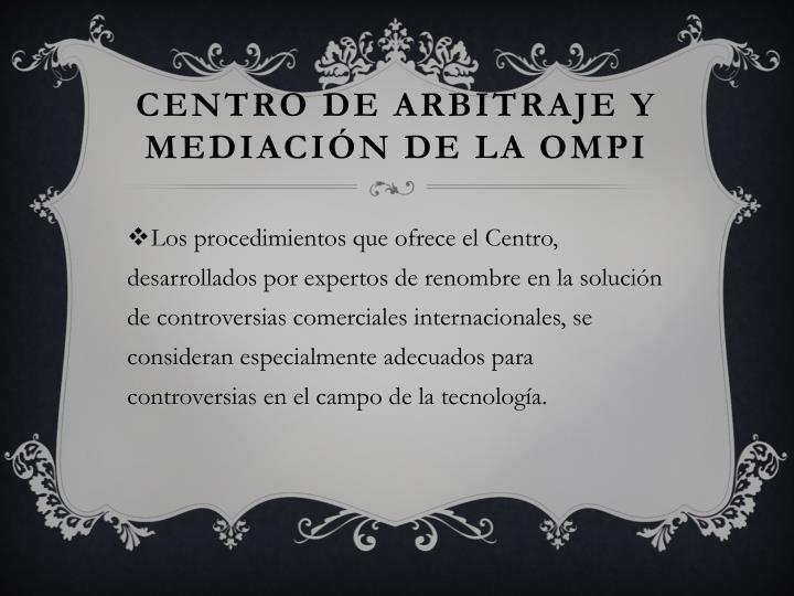 Centro de Arbitraje y Mediación de la OMPI