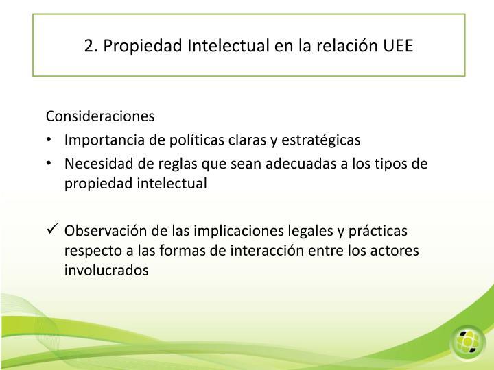 2. Propiedad Intelectual en la relación UEE