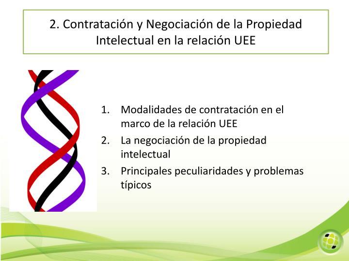 2. Contratación y Negociación de la Propiedad Intelectual en la relación UEE