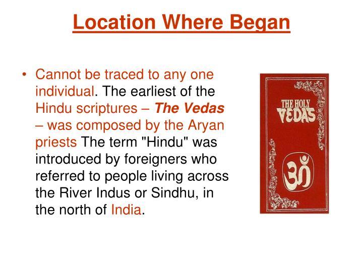 Location Where Began