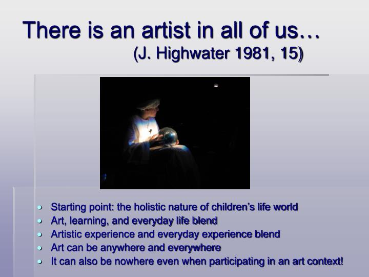 There is an artist in all of us j highwater 1981 15