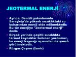 jeotermal enerj