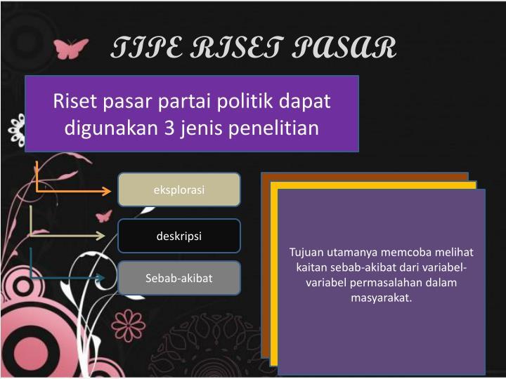 TIPE RISET PASAR