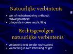 natuurlijke verbintenis